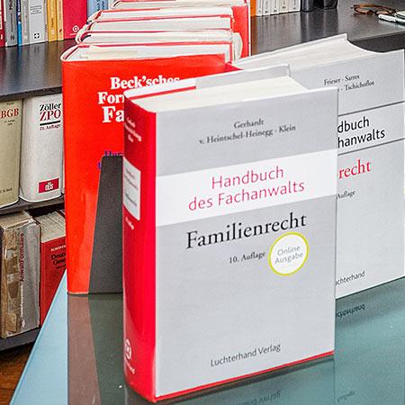 Fachbücher für Familienrecht und Erbrecht